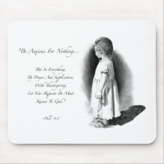 BIBLE VERSE, ANXIETY: CHILD: PENCIL ART MOUSE PAD