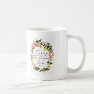 Bible Verse Art - 1 John 4:16 Coffee Mug