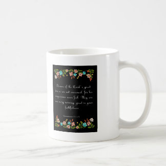 Bible Verse Art - Lamentation 3:22-23 Coffee Mug