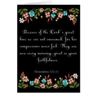 Bible Verse Art - Lamentation 3:22-23 Greeting Card