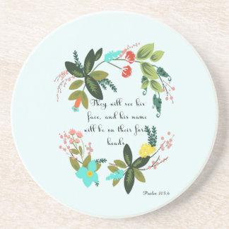 Bible Verse Art - Psalm 103:6 Coasters