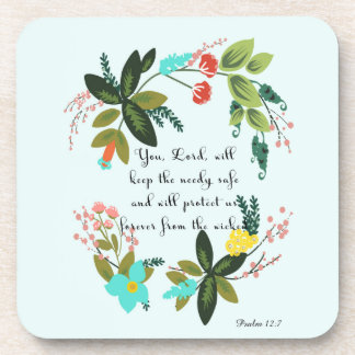 Bible Verse Art - Psalm 12:7 Beverage Coasters