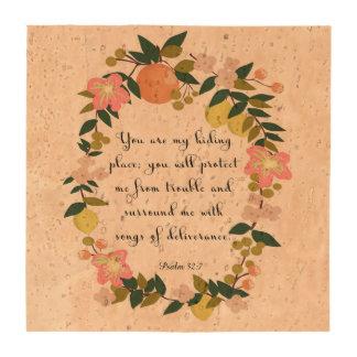Bible Verse Art - Psalm 32:7 Coasters