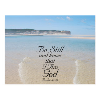 Bible Verse Be Still and Know I Am God Postcard