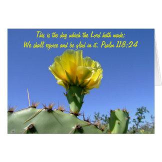 bible verse blank notecard cactus flower