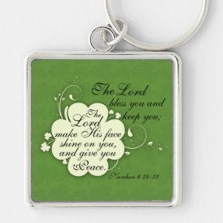 Bible Verse Blessing Irish Design Keychain