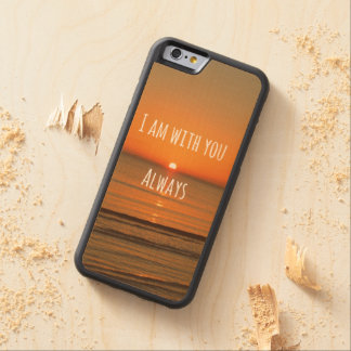 Bible Verse Carved Maple iPhone 6 Bumper Case