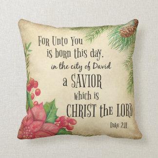 Bible Verse Christmas Cushion