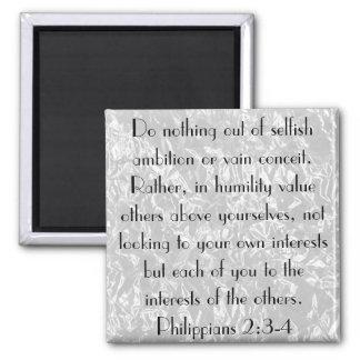 Bible Verse encouragement Philippians 2:3-4 Magnet