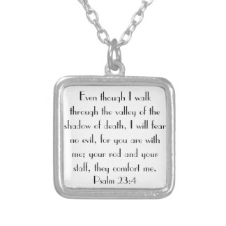 bible verse encouragement Psalm 23 4 Jewelry