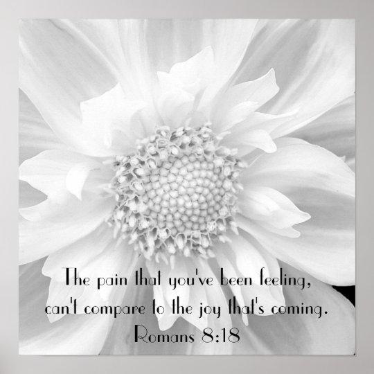 Bible verse encouragement Romans 8:18 poster