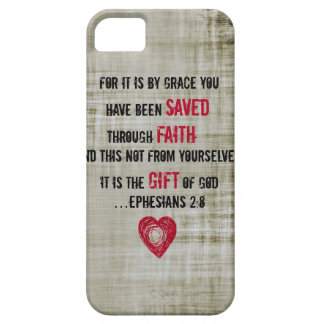 Bible Verse Ephesians 2:8 iPhone 5 Cover