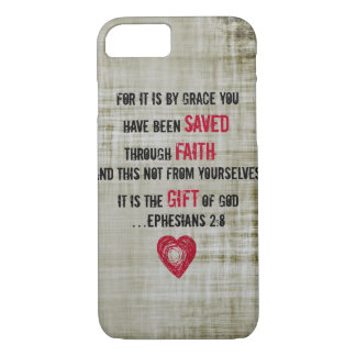 Bible Verse Ephesians 2:8 iPhone 8/7 Case