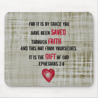Bible Verse Ephesians 2:8 Mouse Mat