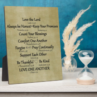 Bible Verse Family Life Rules Plaque