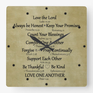Bible Verse Family Rules Wall Clocks
