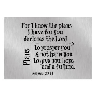 Bible Verse: For I know the Plans I have for you Business Cards