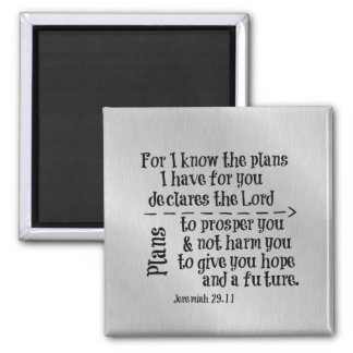 Bible Verse: For I know the Plans I have for you Magnet