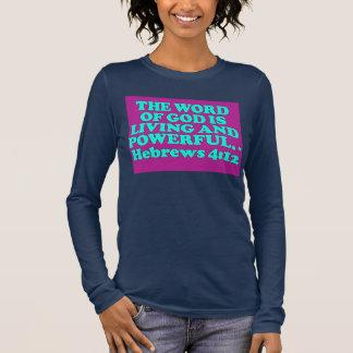 Bible verse from Hebrews 4:12. Long Sleeve T-Shirt