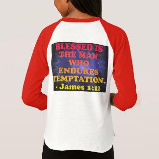 Bible verse from James 1:12. T-Shirt