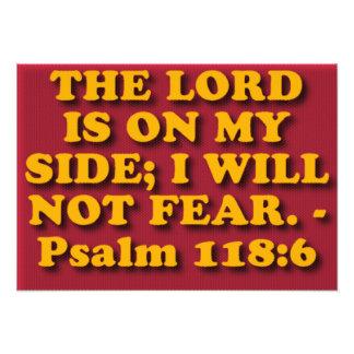 Bible verse from Psalm 118:6. Art Photo