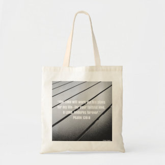 Bible Verse from Psalm 138 Tote Bag