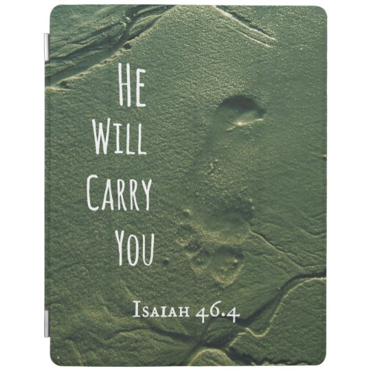 Bible Verse: He will Carry You with Footprints
