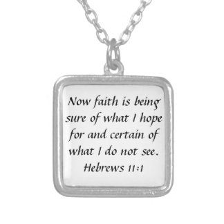 bible verse Hebrews 11:1 encouragement necklace