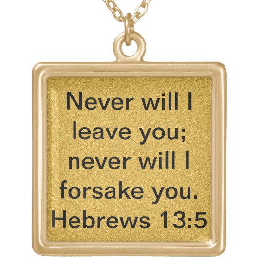 bible verse Hebrews 13:5 encouragement necklace