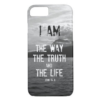 Bible Verse: I am the Way, Truth, Life iPhone 8/7 Case