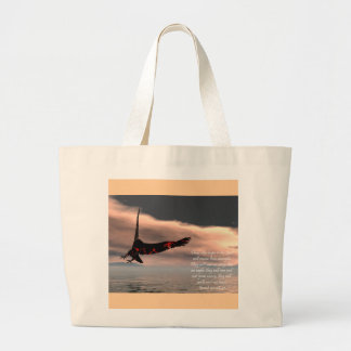 Bible Verse Isaiah 40: 28-31 with Eagle Large Tote Bag