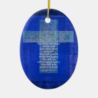 Bible Verse Isaiah 40:-31 contemporary Christian Ceramic Oval Decoration
