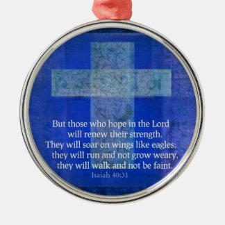 Bible Verse Isaiah 40:-31 contemporary Christian Christmas Tree Ornament