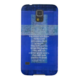 Bible Verse Isaiah 40:-31 contemporary Christian Galaxy S5 Case