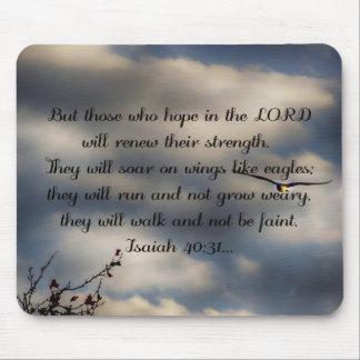 Bible Verse Isaiah 40:31 Mouse Mat