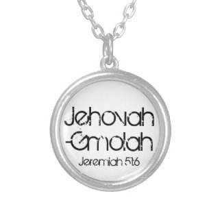 bible verse Jehovah-Gmolah (God of recompense) Round Pendant Necklace