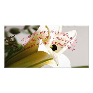 Bible Verse John 14-6 Flower Invitation Card Customised Photo Card