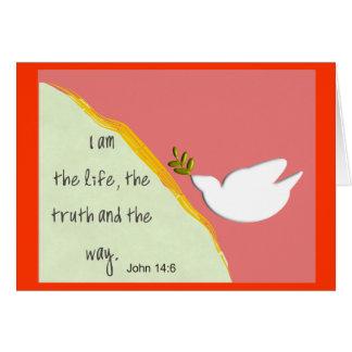 Bible Verse John 14:6 Notecards
