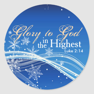 Bible Verse Luke 2:14 Glory to God Stickers