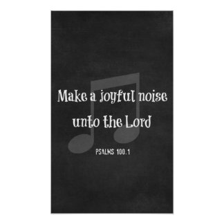 Bible Verse: Make a Joyful Noise 12 X 20 Poster