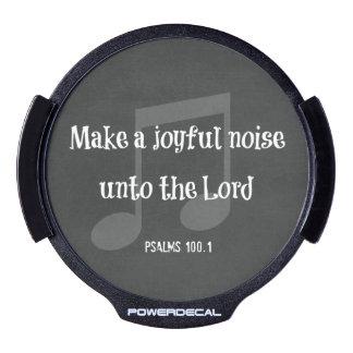 Bible Verse Make a Joyful Noise LED Car Decal