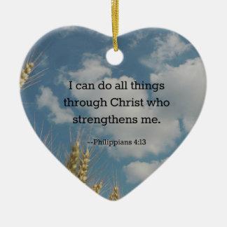 Bible Verse, Philippians 4:13 Christmas Ornament