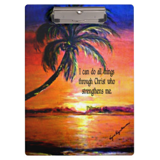 Bible verse, Philippians 4:13 Clipboard