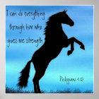 bible verse Philippians 4:13 horse poster