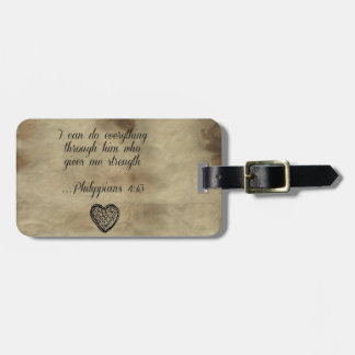 Bible Verse Philippians 4:13 Luggage Tag