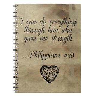 Bible Verse Philippians 4:13 Notebook