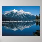 Bible Verse Phillipians 4:13 Poster