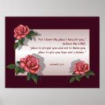 Bible Verse: Pink Roses: Jeremiah 29:11: Art