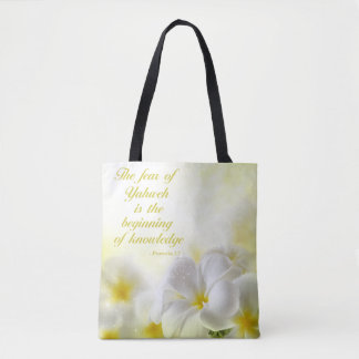Bible Verse | Proverbs 1:7 Tote Bag