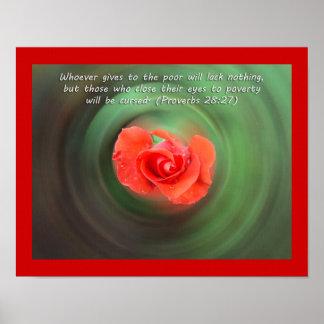 Bible Verse Proverbs 28 27 Print